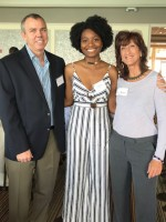"Daffodyle and us At ""the point foundation"" event on Miami Beach. This student was a GSA star in Broward County public schools and we worked with her in the past.She received the point foundation scholarship awa.jpg"